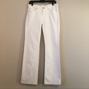 7 for all Mankind White Button-fly Jeans sz 29